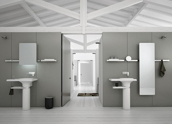 Vase collection by Inbani. #bathroom #design #washbasin #mirror