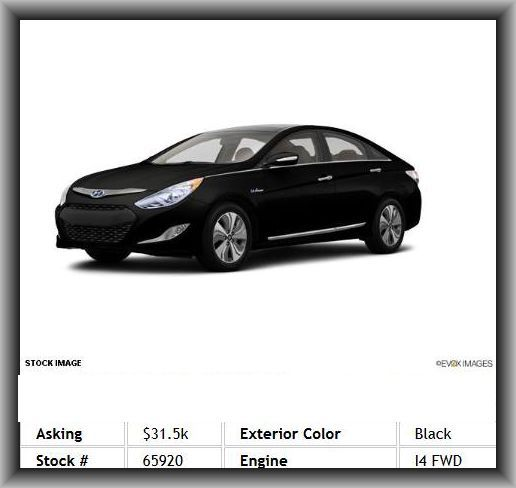 2013 Hyundai Sonata Hybrid Limited Sedan 3Point Seat