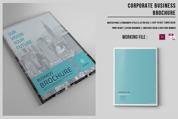 Business Brochure | 16 Pages |-v421  by Template Shop on @creativemarket