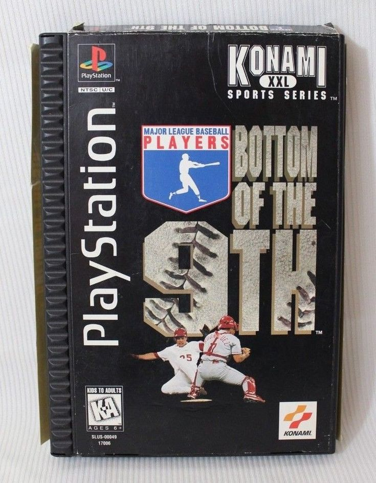 Bottom of the 9th Complete Playstation 1 Game CIB PS1 Long