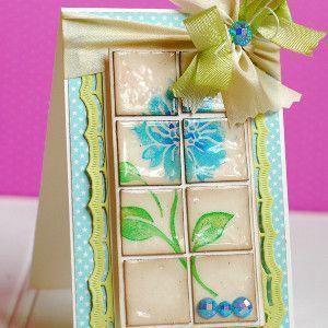 Elegant Tiled Greeting Card