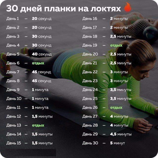 30 дней планки на локтях 👍