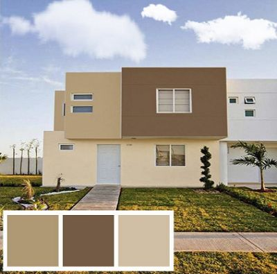 Top colores para exteriores de casas images for pinterest - Pinturas para exterior ...