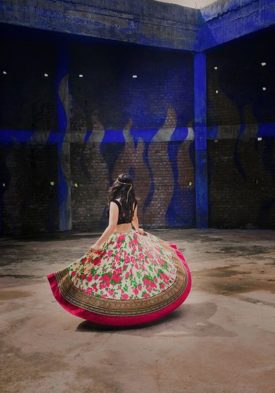 Floral spin.