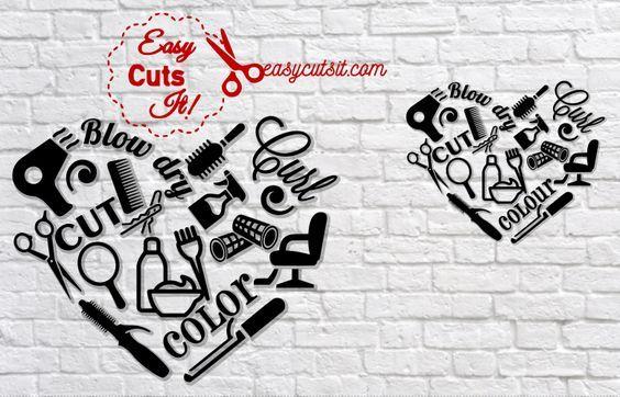 Download Hairdresser Heart ~ SVG, DXF, EPS, PDF plus | Hairdresser ...