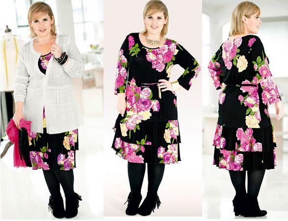 rochie marime mare cu imprimeu floral
