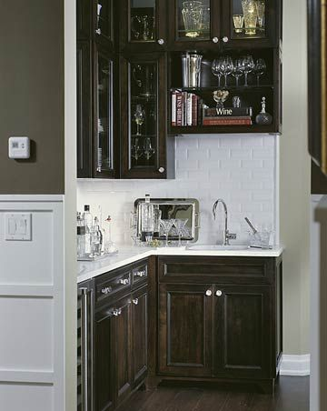 Butler's Pantry with Wet Bar via BHG