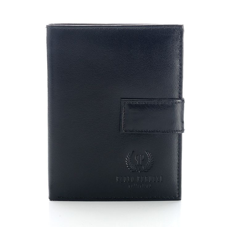 #paoloperuzzi, czarny portfel męski, leather black men wallet paolo peruzzi