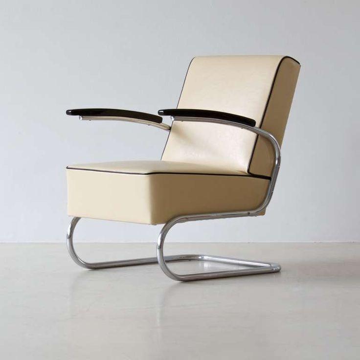 Bauhaus tubular steel lounge chair Steel lounge chair