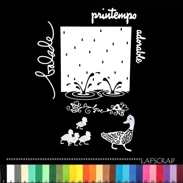 découpes scrapbooking canard bébé animal love amour coeur mot adorable balade printemps scrapbooking embellissement album : Embellissements par lafscrap