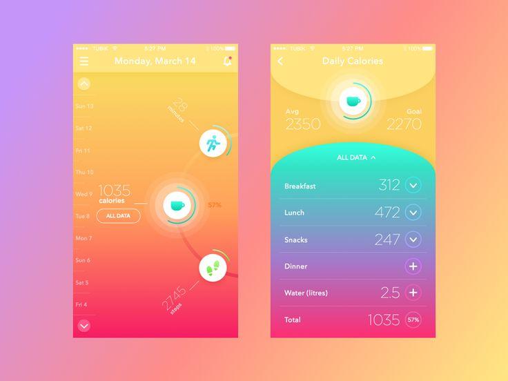 Fitness/Health App — Design Inspiration