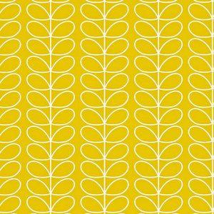 Papier peint Orla Kiely Linear stem jaune