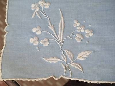 3 шт. винтажный синий льняной белый цветочный вышитая задерживает лоток тканевые салфетки
