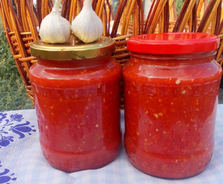 Продукты: помидоры — 4 кг перец болгарский — 1,5 кг перец чили — 3 шт. чеснок —…