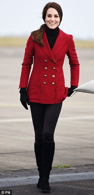 Catherine, Duchess of Cambridge during a visit to the RAF Air Cadets at RAF Wittering on February 14, 2017 in Stamford, England.