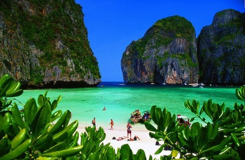 Pi Pi island, Thailand.  Oh, how I would love to go back there again.