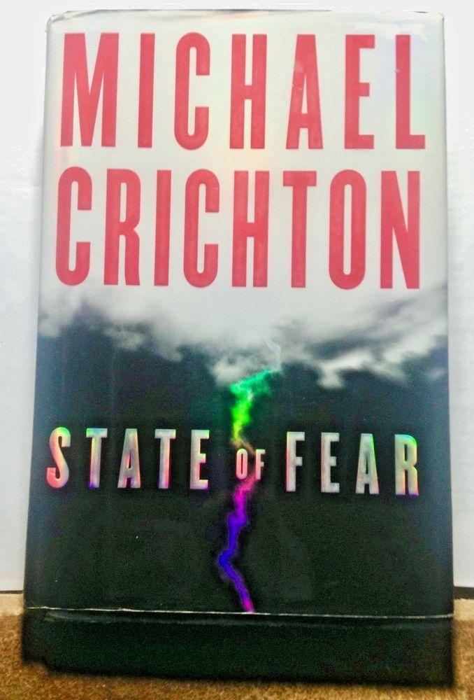 Michael Crichton, State of Fear, Suspense Thriller Hardcover 1st Edition 2004