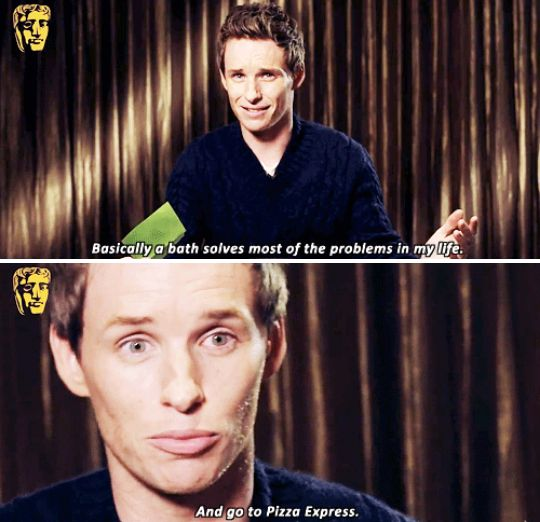 When he discussed his methods of relieving stress, and it was honestly just really relatable. | 23 Times Eddie Redmayne Was A Gift We Didn't Deserve