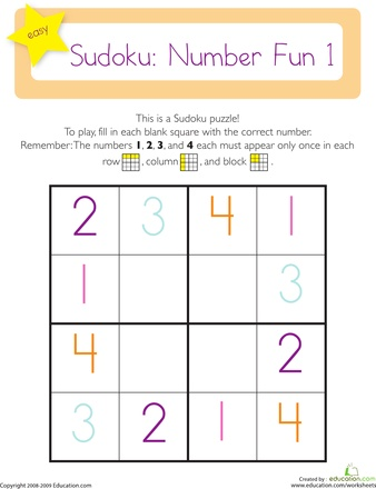 Worksheets: Sudoku 4x4: Sudoku 4X4, Sudoku Puzzles, Kids Projects, Kindergarten Math, Math Worksheets, Math Ideas, Learning Fun, Letters Worksheets D