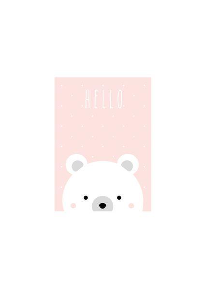 """Bilder - Kunstdruck / Baby / Kids Print """"Eisbär"""" - ein Designerstück von TypicalMe bei DaWanda"""