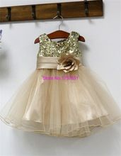 Новый блесток бальное платье детские платья для свадеб дети дети конкурса красоты платье ну вечеринку вечернее платье Ruched цветок(China (Mainland))