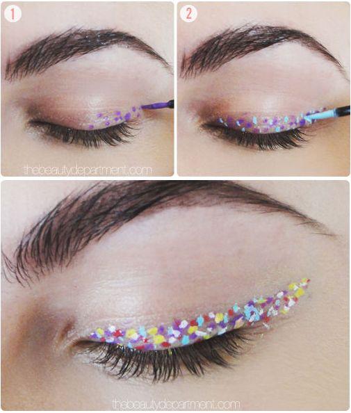 Delineador estilo confetti:   17 Formas de delinearte los ojos sin parecer un payaso