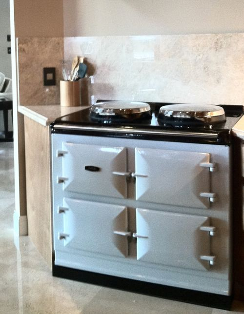 Rob van Winkle (a.k.a. Vanilla Ice) chose a 3-oven AGA Total Control in Pearl Ashes.