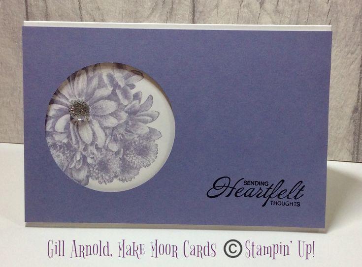 Heartfelt Blooms #sympathy #Stampinup #makemoorcards