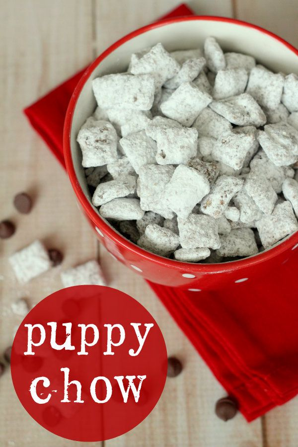 Puppy Chow. My FAVORITE dessert/snack! (But I double PB and Chocolate) :)