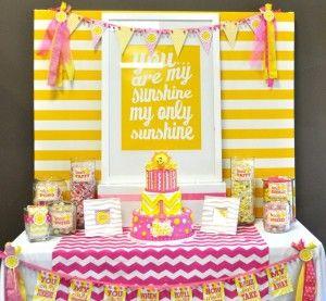 You are my sunshine birthday theme
