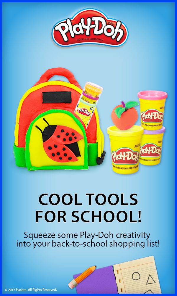 Go to the head of the class — art class, that is! Tap into your child's creativity and make Play-Doh a must have this back to school season.