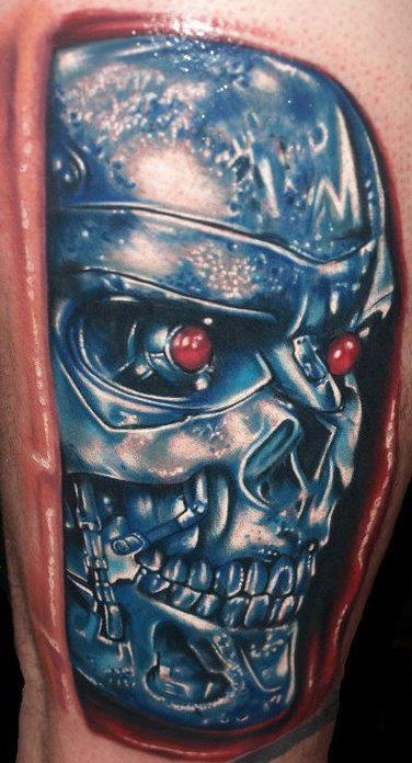 Terminator Face Tattoo | www.imgkid.com - The Image Kid ...
