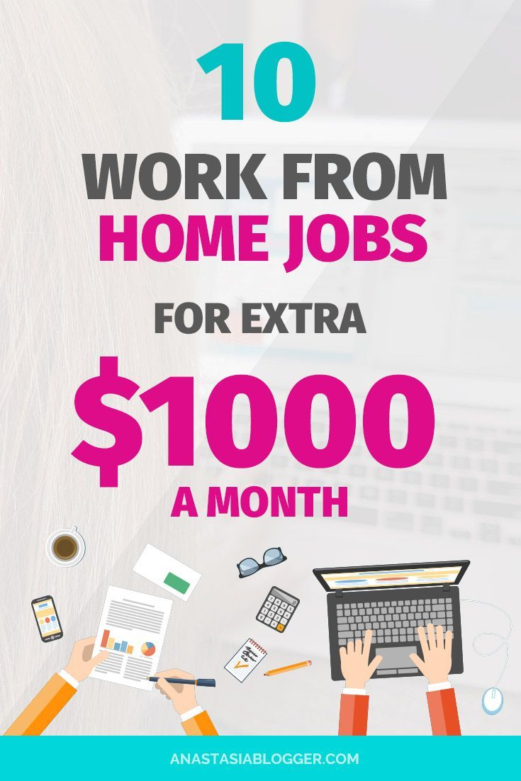 Work From Home Jobs For Extra 1000 A Month In 2018 Ideal For