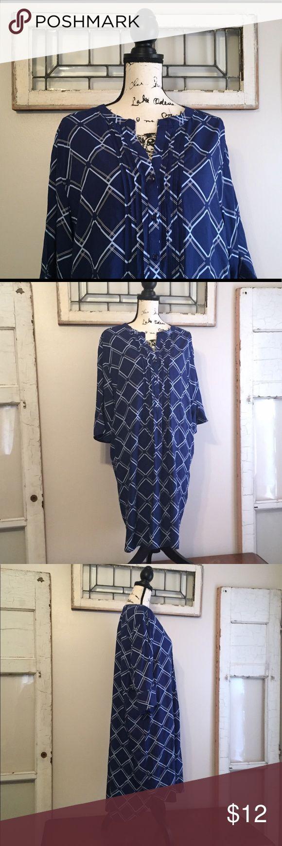 "NWOT Liz Claiborne Nightgown NWOT  Nightshirt - Nightgown - fab muumuu that's super soft, and Lightweight . Made of rayon, machine washable.                                                                         Tag reads size XXL                                                                Measures  26"" armpit to armpit                                             39"" shoulder to hem Liz Claiborne Intimates & Sleepwear"