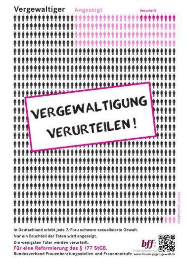 Vergewaltigung verurteilen! - bff Frauen gegen Gewalt e.V.