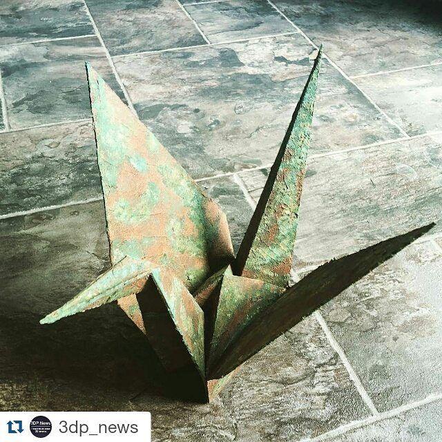 Новости 3D печати @3dp_news Чернобыльский журавлик. Работа @mirice_inc #чернобль #журавль #оригами #3dprint #3dпечать #3dprinting #3dпринтер by ustits_r