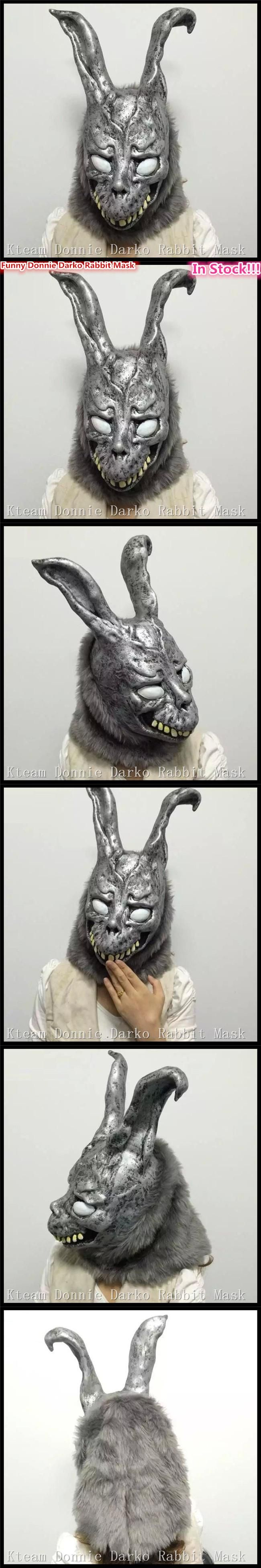Halloween Party Cosplay Animal Full head Carnival Mask Scary Donnie Darko Rabbit Mask Horror Ghost Rabbit Zombie Mask in stock