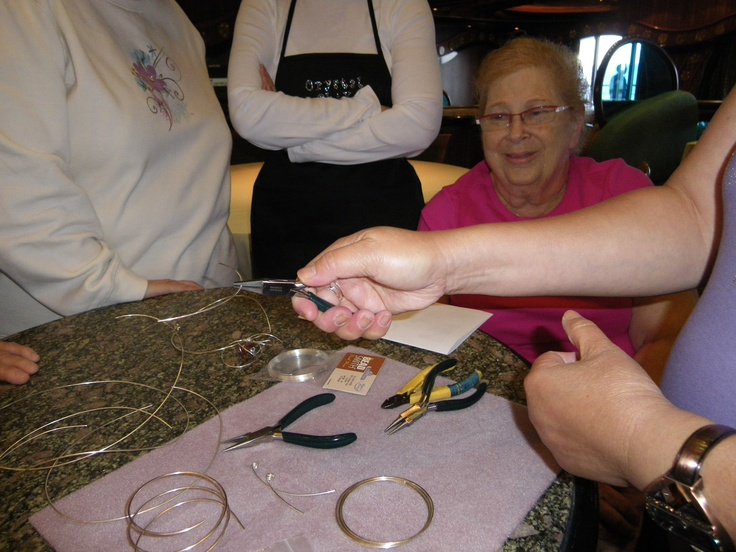 Taking beading classes while on a cruise is very relaxing and lots of fun