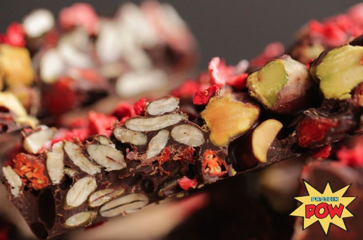 Homemade Pistachio, Pumpkin Seed, and Strawberry Dark Chocolate Bark