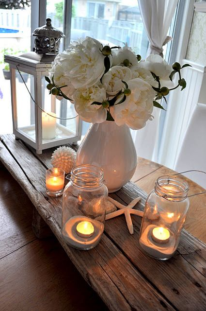 Simple and Classic #white #beach table setting.