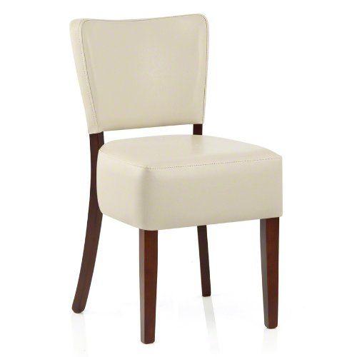 Ramsay Walnut Dining Chair Cream Leather