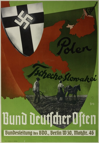 German WWII poster, advertising the expanded German Reich (?). Poland and Czechoslovakia are mentioned