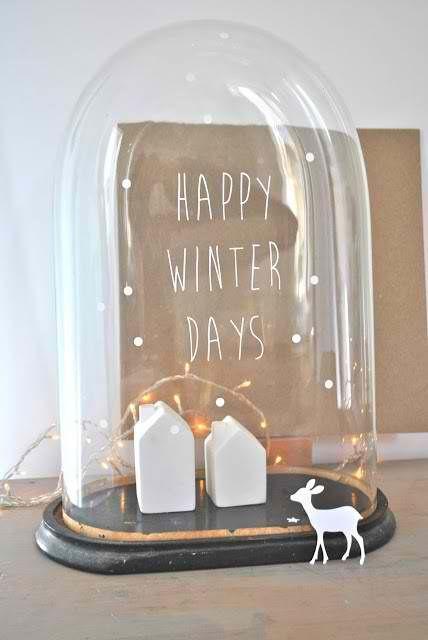 Schrijf een leuke groet op een stolp, perfect aan te passen aan ieder seizoen! #winter
