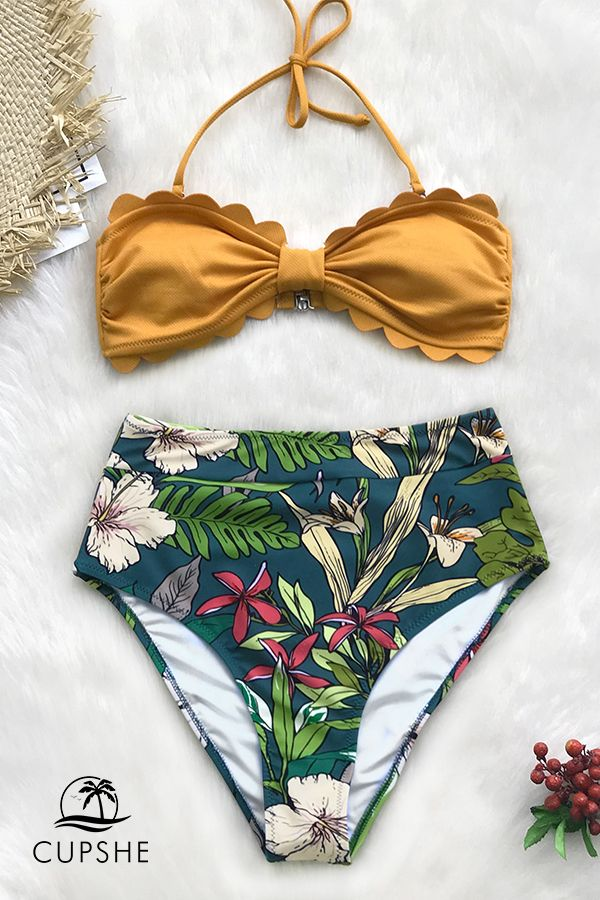 9c1bc9f3a7 The most flattering bikini is here! Shop Cupshe new high-waisted styles.   CUPSHE  highwaisted  bikini  swimwear  holiday
