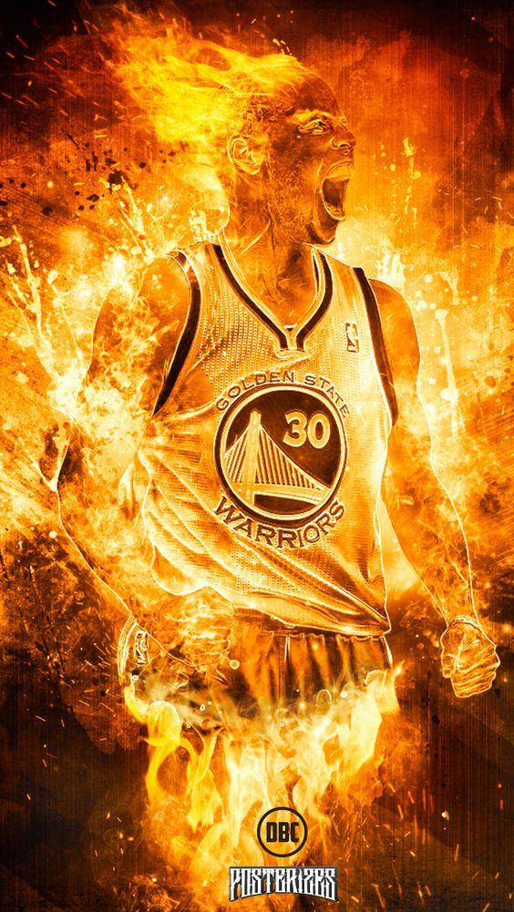 Stephen Curry \'Human Torch\' Wallpaper | Posterizes | NBA