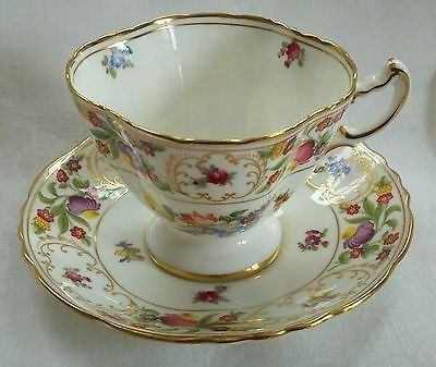 Dresden Sprays Bone China Tea Cup and Saucer Set Hammersley & Co., England