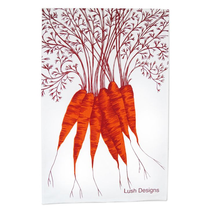Carrot Tea Towel