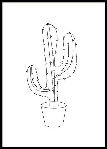 Een grafische poster met illustratie van een cactus. Zwart-wit motief dat goed past in elke lijst en zowel speels als strak tegelijk is. Vind meer grafische posters in onze categorie Grafisch en maak een trendy collage in bijvoorbeeld de woonkamer. www.desenio.nl: