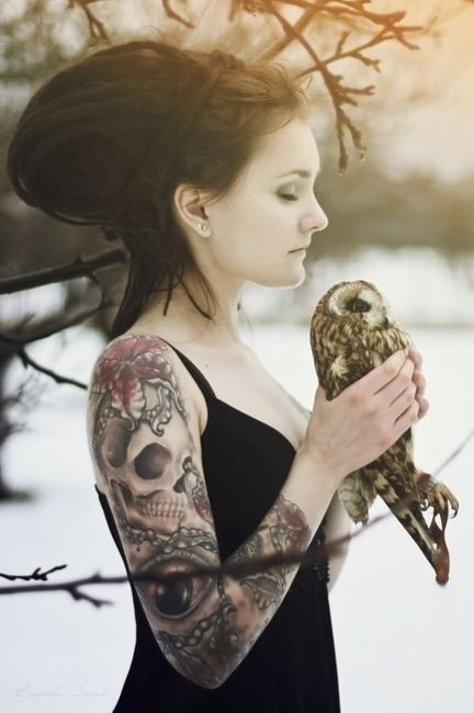 Chick with Tattoos, CHECK, Owl, CHECK everything a photo needs to be great LOL