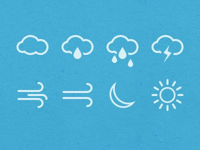A little preview of my next set of icons dedicated to weather.